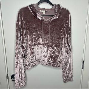 Crushed Velvet lilac purple hoodie